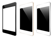 Mockup tablet collection set  on white vector design Stock Photography