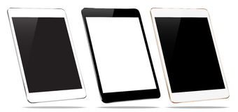 Mockup tablet collection set  on white vector design Royalty Free Stock Photos
