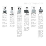 Mockup Templates With People. Editable Mockup Templates With People and Signatures Stock Images