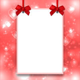 Mockup Valentines poster, Empty blank postcard, Love backdrop, Valentine background Royalty Free Stock Photo