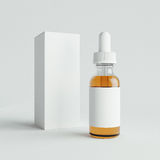 Mockup of Vape bottle with liquid on white background. Template. 3d rendering. Mockup Vape bottles with liquid on white background. Template Royalty Free Stock Photography