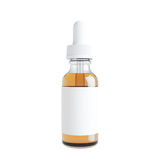 Mockup of Vape bottle with liquid on white background. Template. 3d rendering Royalty Free Stock Photo