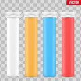 Mockup Vitamin Plastic Bottle Container. Stock Image