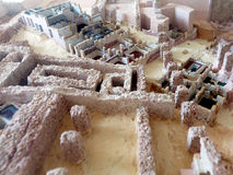 Mockup w sala muzealne ekskawacje ruiny Carthage Tunezja Afryka Fotografia Stock