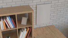 Mockup of wall calendar in the interior vector illustration