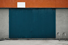 Mockup of warehouse facade royalty free stock photos