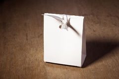 Mockup white paper box Royalty Free Stock Photo