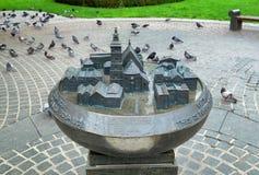 Mockup Wszystkie święty kościół, Krakow, Polska obrazy royalty free