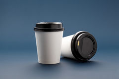 Mockups cups for coffee royalty free stock photo