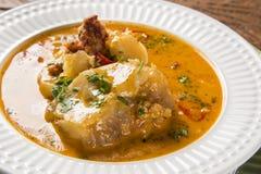 Mocoto brasiliansk maträtt som göras från fot för ko` som s låtas småkoka med bönor Royaltyfria Foton