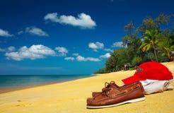 mocs sulla spiaggia Fotografia Stock