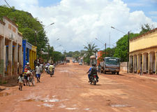 MOCUBA, MOZAMBIQUE - 7 DECEMBER 2008: Street in the village. Stock Photos