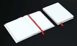 Mocup книги календаря на темной предпосылке Стоковые Изображения