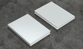 Mocup книги на конкретной предпосылке Стоковое фото RF