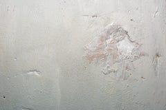Moczę malował ścianę z białej wody dyspersyjną farbą Zdjęcie Stock
