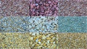 Moczę miażdżył marmur, otoczaki, granit, tekstura, tło Fotografia Royalty Free