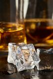 Moczy kwadratowych kostka lodu obraz royalty free