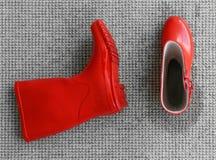 Moczy parę gumowi buty Zdjęcie Royalty Free