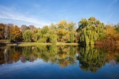 Moczydlo Park in City of Warsaw royalty free stock images
