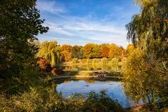 Moczydlo Park in City of Warsaw stock photos