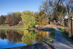 Moczydlo Park in Warsaw Royalty Free Stock Photography