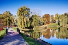 Moczydlo Park in Warsaw Stock Image