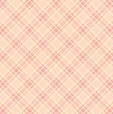 Modèle à carreaux blanc sur le fond rose illustration de vecteur