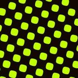 Modèle à carreaux noir vert Texture ronde de places Éléments abstraits Formes périodiques contrastées Effet de bruit ou de bande  illustration stock