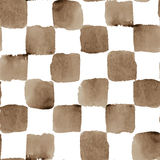 Modèle à carreaux sans couture d'aquarelle de vecteur avec Images stock