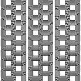 Modèle à chaînes monochrome sans couture de conception illustration stock