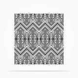 Modèle à fond gris de Navajo Photos stock