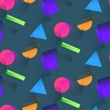 Modèle à la mode avec les formes et l'image tramée de couleur illustration de vecteur