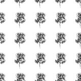 Modèle à main levée sans couture des fleurs roses abstraites d'isolement sur le fond blanc Dirigez l'illustration florale Griffon illustration de vecteur
