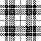 Modèle écossais sans couture noir et blanc de plaid de tartan illustration stock