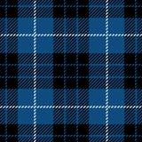 Modèle écossais sans couture noir et bleu de plaid de tartan illustration stock