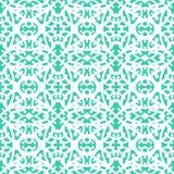 Modèle élégant de dentelle avec les lignes blanches sur le bleu d'aqua Photo stock