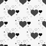 Modèle élégant sans couture avec les coeurs noirs Illustration de vecteur illustration de vecteur