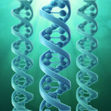 modèle 3D d'un brin d'ADN Photographie stock