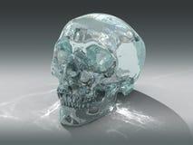 modèle 3D d'un crâne en cristal humain Images libres de droits