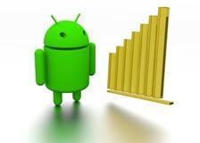 Modèle 3d et diagramme androïdes Image libre de droits
