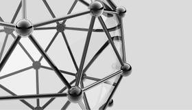 Modèle 3D scientifique de la molécule, un atome Photographie stock libre de droits