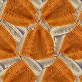 Modèle abstrait aléatoire des chapeaux tricotés à la main Image stock