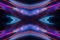 Modèle abstrait au néon illustration libre de droits
