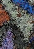 Modèle abstrait avec les points multi de couleurs illustrés pour le fond illustration stock