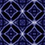 Modèle abstrait bleu d'une place, des cercles et des rayures Image stock