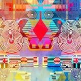 Modèle abstrait coloré Image stock