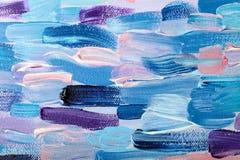 Modèle abstrait coloré de peinture à l'huile Photos stock