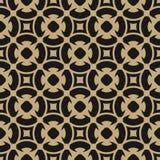 Modèle abstrait d'or dans le style Arabe Or et fond floral sans couture de noir illustration libre de droits