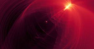 Modèle abstrait dans les lignes rouges particules de courbes sur le fond foncé banque de vidéos