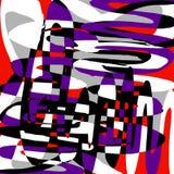 Modèle abstrait de couleur dans l'illustration de vecteur de qualité de style de graffiti pour votre conception illustration stock